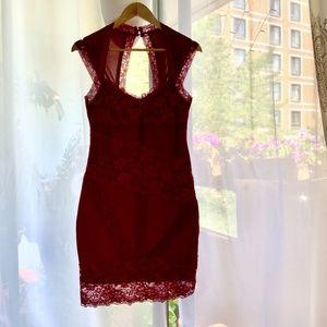 Mendocino Burgundy lacy dress